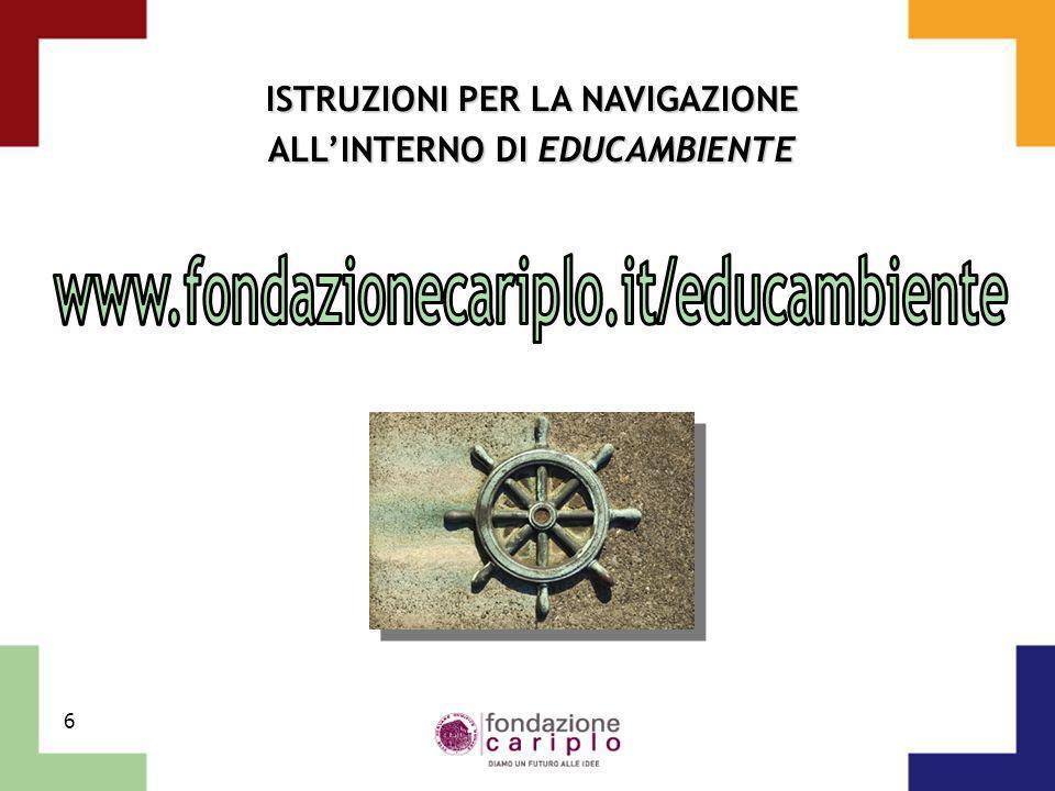 6 ISTRUZIONI PER LA NAVIGAZIONE ALLINTERNO DI EDUCAMBIENTE