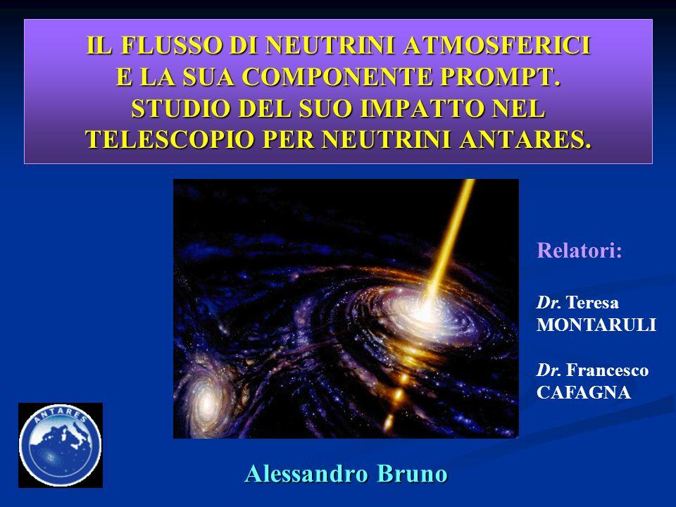 14/12/2005 2Alessandro Bruno Schema della Tesi Studio dei atmosferici e, in particolare, della componente prompt; impatto nei telescopi per neutrini (fondo irriducibile).