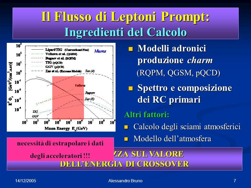 14/12/2005 8Alessandro Bruno FLUKA Monte Carlo Codice di interazione e trasporto Codice di interazione e trasporto largamente usato in HEP, medicina, spazio,...