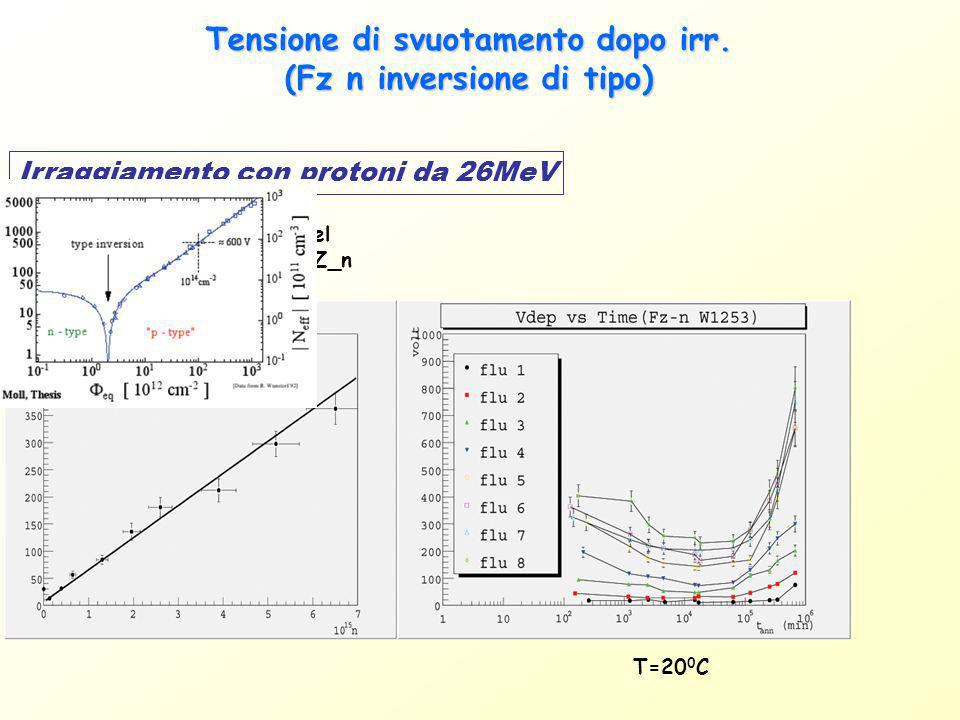 Capacità interstrip: proton irr.