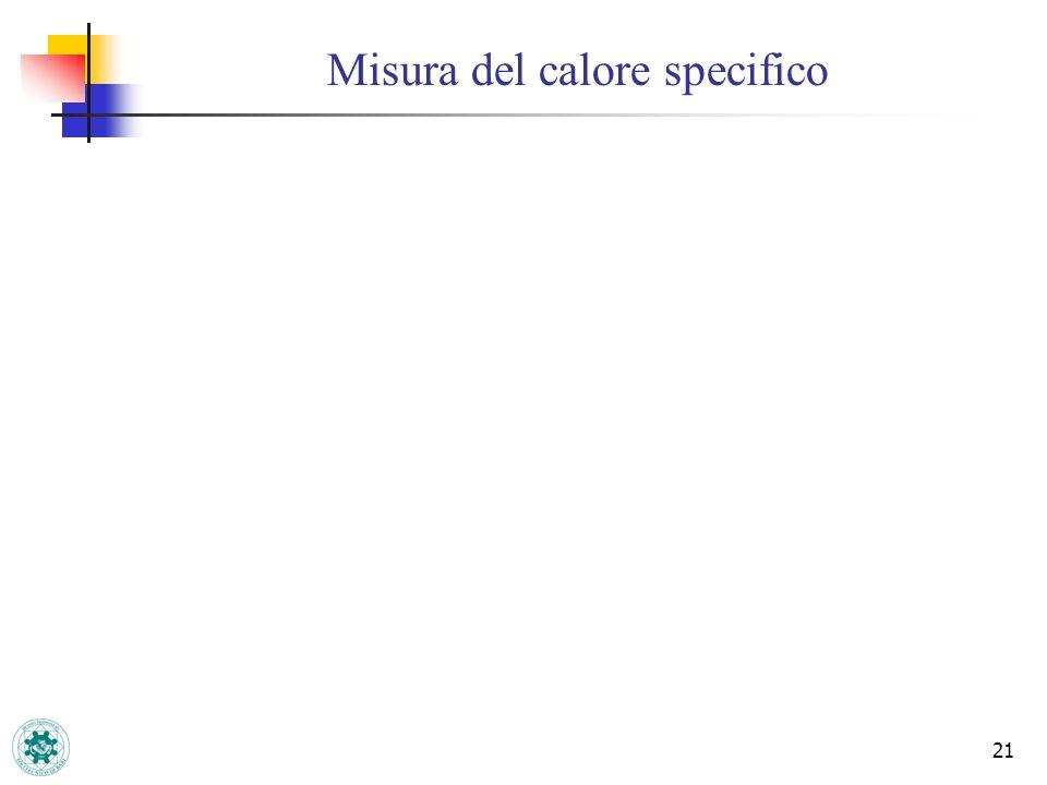 21 Misura del calore specifico