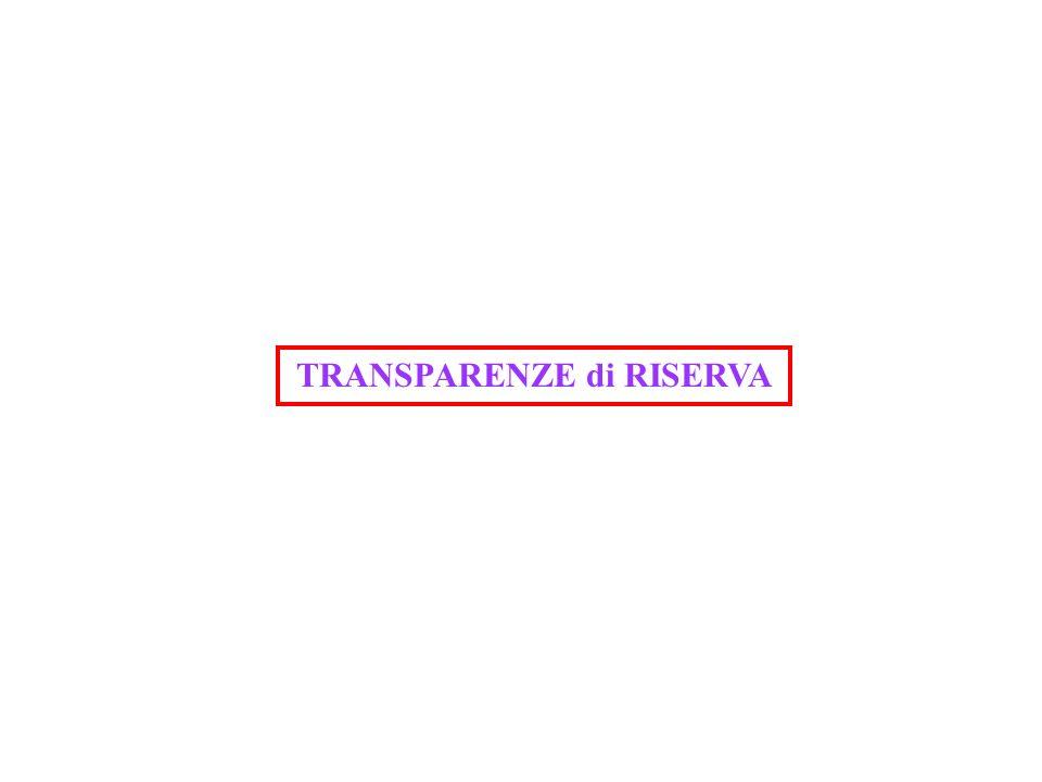 TRANSPARENZE di RISERVA