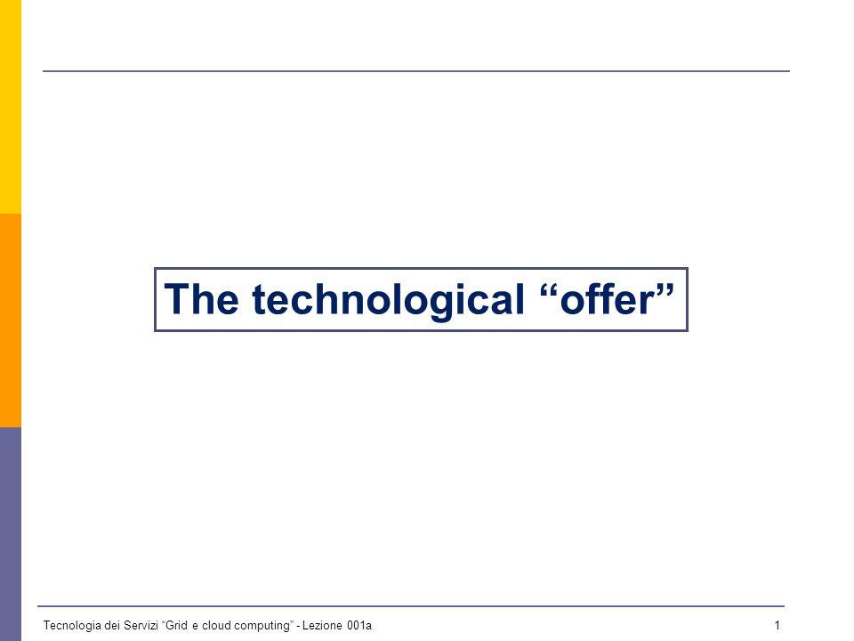 Tecnologia dei Servizi Grid e cloud computing - Lezione 001a 0 Lezione 1a - 13 ottobre 2009 Il materiale didattico usato in questo corso è stato mutuato da quello utilizzato da Paolo Veronesi per il corso di Griglie Computazionali per la Laurea Specialistica in Informatica tenuto nellanno accademico 2008/09 presso lUniversità degli Studi di Ferrara.