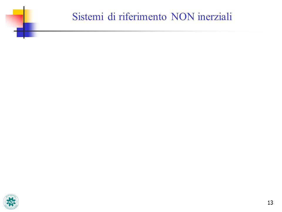 13 Sistemi di riferimento NON inerziali
