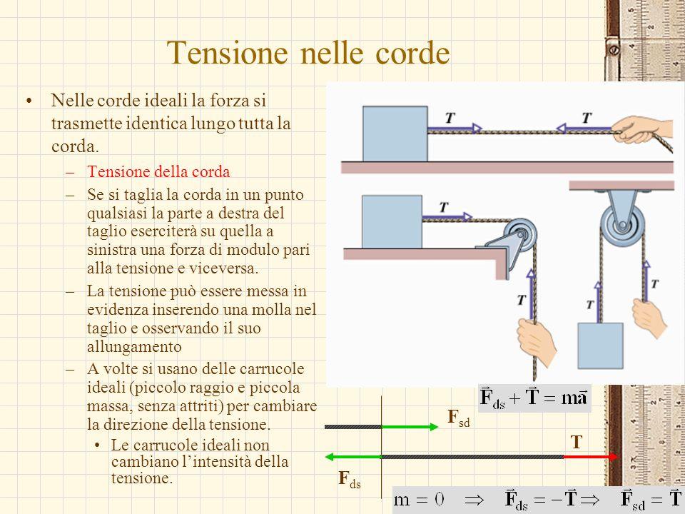 G.M. - Edile A 2002/03 Tensione nelle corde Nelle corde ideali la forza si trasmette identica lungo tutta la corda. –Tensione della corda –Se si tagli