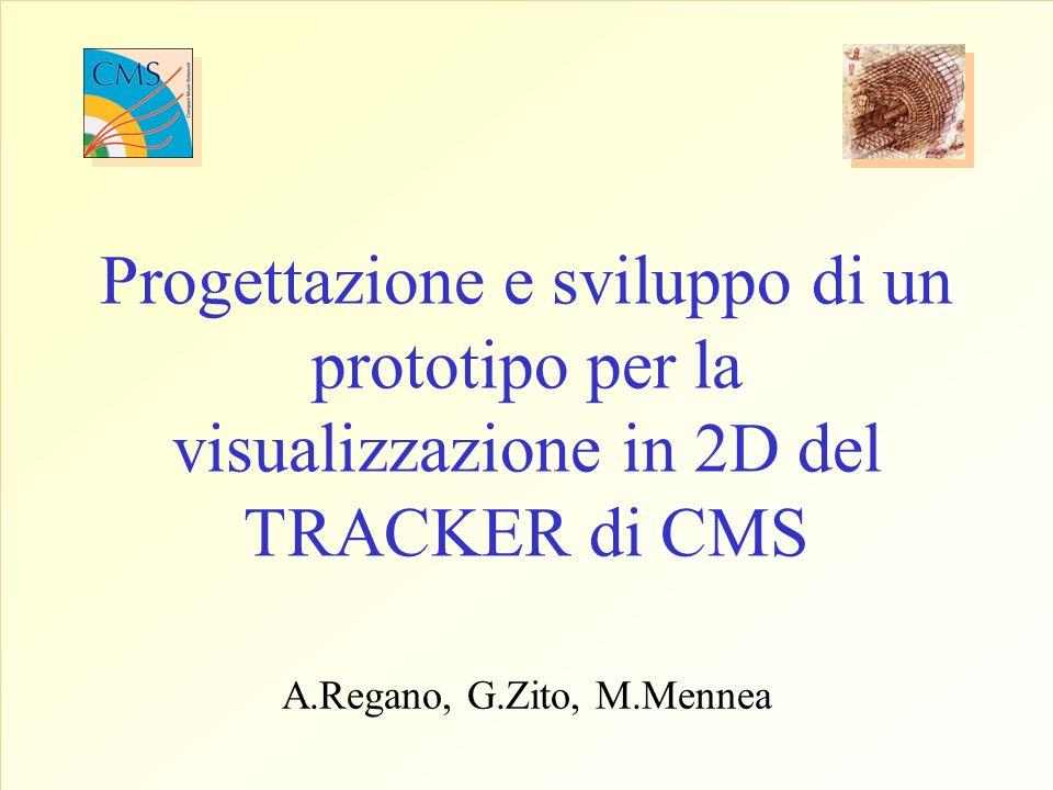 Progettazione e sviluppo di un prototipo per la visualizzazione in 2D del TRACKER di CMS A.Regano, G.Zito, M.Mennea