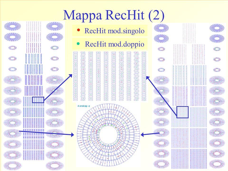 Mappa RecHit (2) RecHit mod.doppio. RecHit mod.singolo.