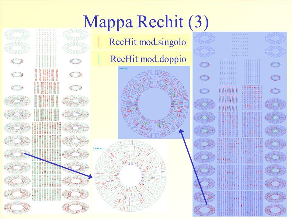 Mappa Rechit (3) RecHit mod.singolo RecHit mod.doppio | |