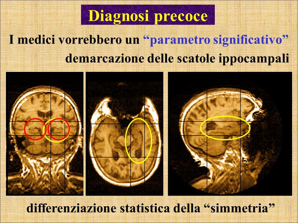 differenziazione statistica della simmetria Diagnosi precoce I medici vorrebbero un parametro significativo demarcazione delle scatole ippocampali