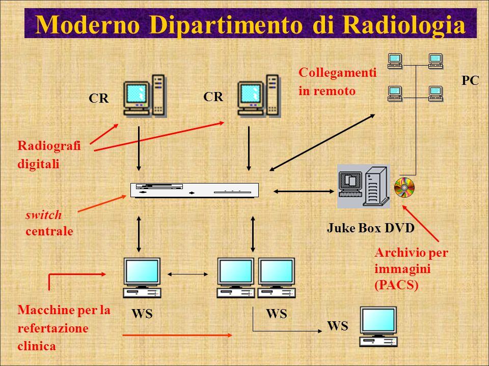 Juke Box DVD Archivio per immagini (PACS) CR Radiografi digitali WS Macchine per la refertazione clinica Moderno Dipartimento di Radiologia switch cen