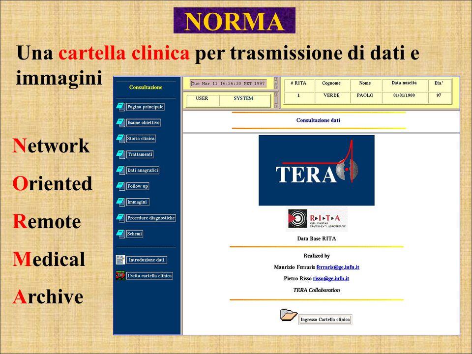 Una cartella clinica per trasmissione di dati e immagini Network Oriented Remote Medical Archive NORMA