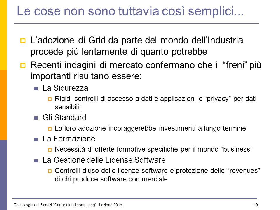 Tecnologia dei Servizi Grid e cloud computing - Lezione 001b 18 Un esempio concreto: il progetto BEinGRID Coordinator: Atos Origin