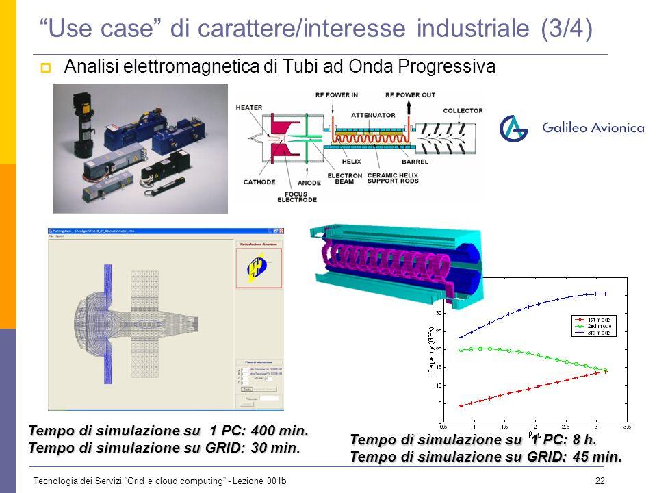 Tecnologia dei Servizi Grid e cloud computing - Lezione 001b 21 Use case di carattere/interesse industriale (2/4) Studio della combustione con bruciat