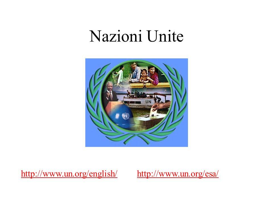 Nazioni Unite http://www.un.org/english/http://www.un.org/esa/