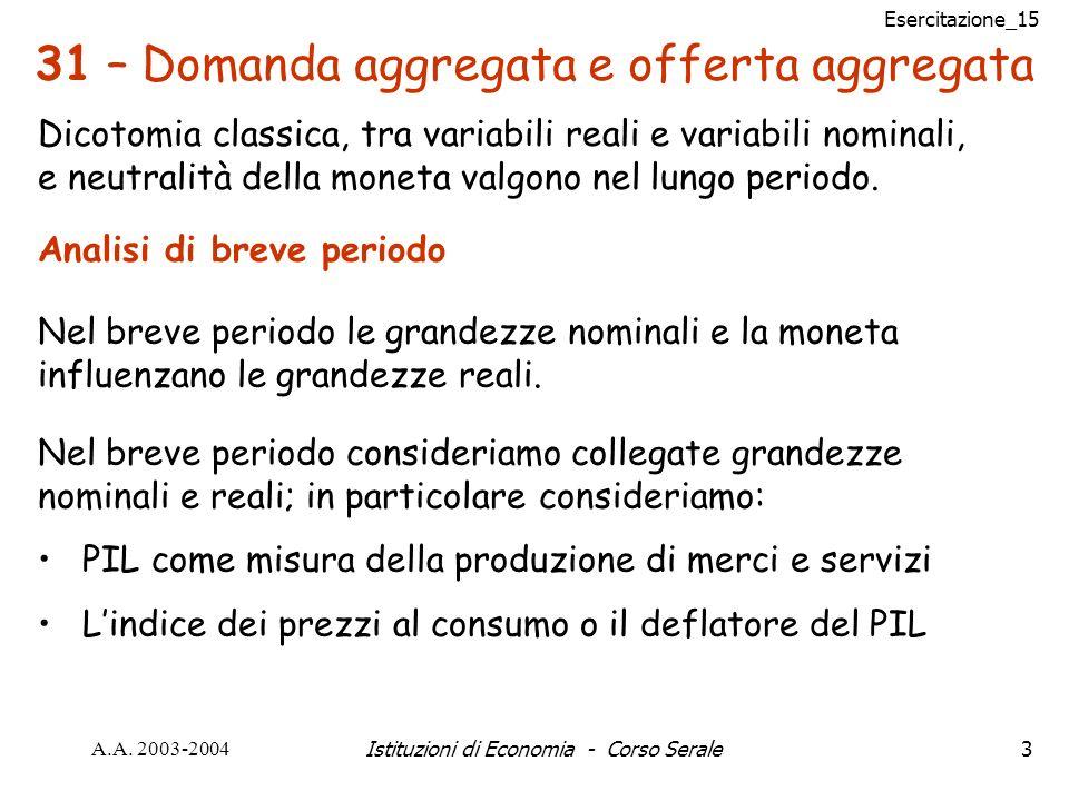 Esercitazione_15 A.A.2003-2004Istituzioni di Economia - Corso Serale54 Problema n° 11 pag.