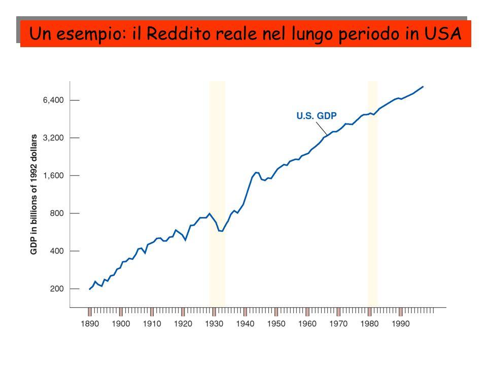 Un esempio: il Reddito reale nel lungo periodo in USA