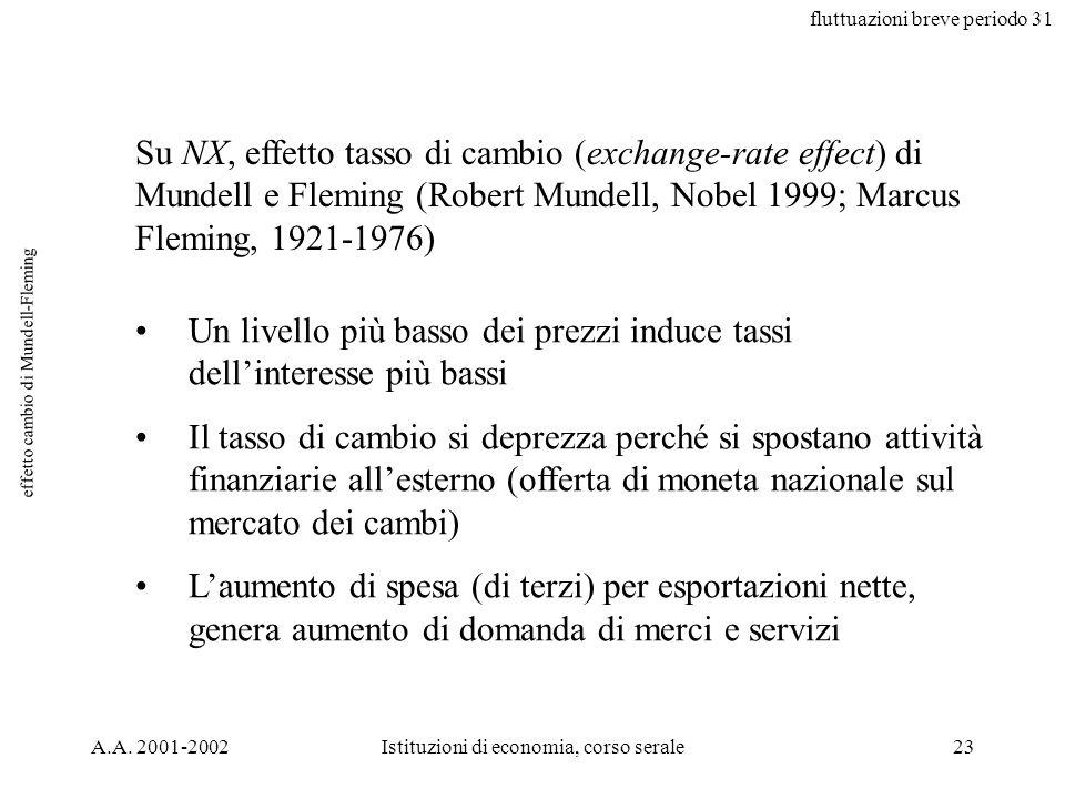 fluttuazioni breve periodo 31 A.A.