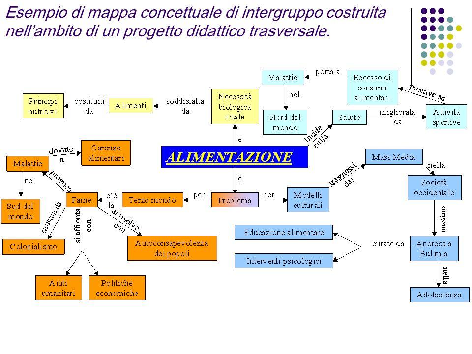 Esempio di mappa concettuale di intergruppo costruita nellambito di un progetto didattico trasversale.