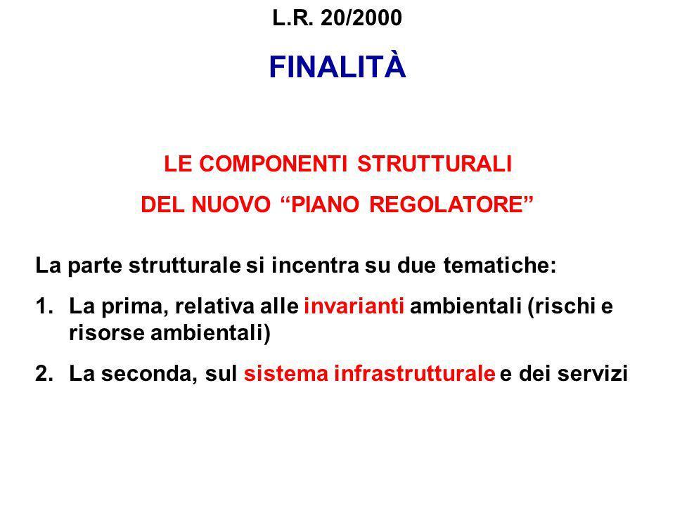 FINALITÀ LE COMPONENTI STRUTTURALI DEL NUOVO PIANO REGOLATORE La parte strutturale si incentra su due tematiche: 1.La prima, relativa alle invarianti