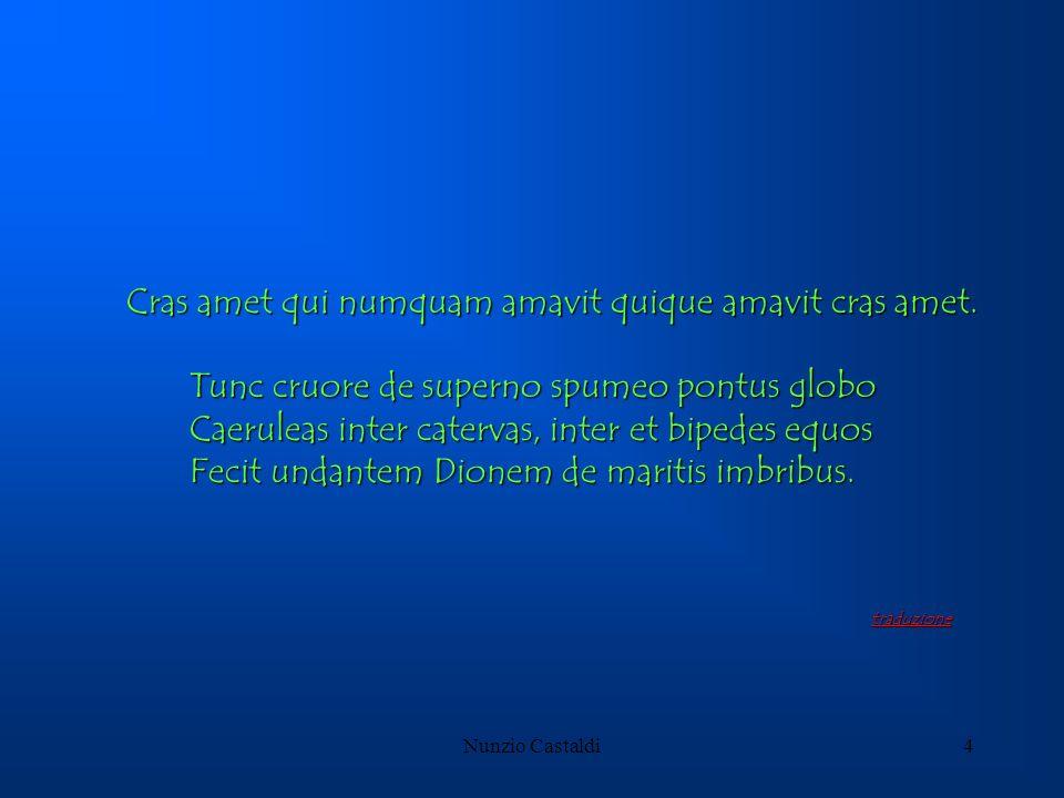 Nunzio Castaldi4 Cras amet qui numquam amavit quique amavit cras amet. Cras amet qui numquam amavit quique amavit cras amet. Tunc cruore de superno sp