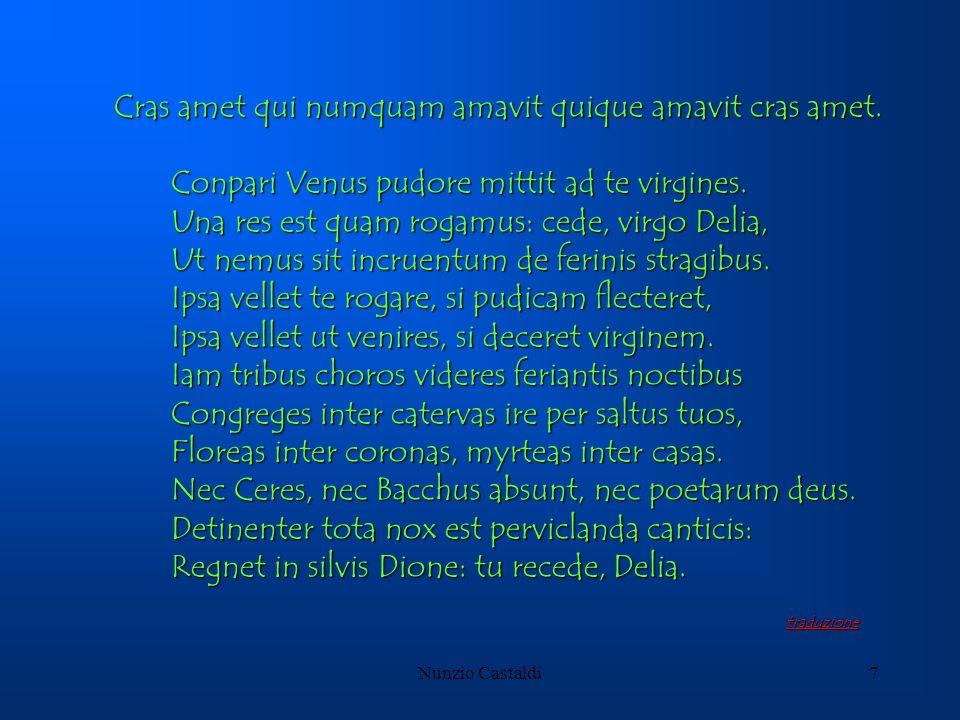 Nunzio Castaldi7 Cras amet qui numquam amavit quique amavit cras amet. Conpari Venus pudore mittit ad te virgines. Conpari Venus pudore mittit ad te v