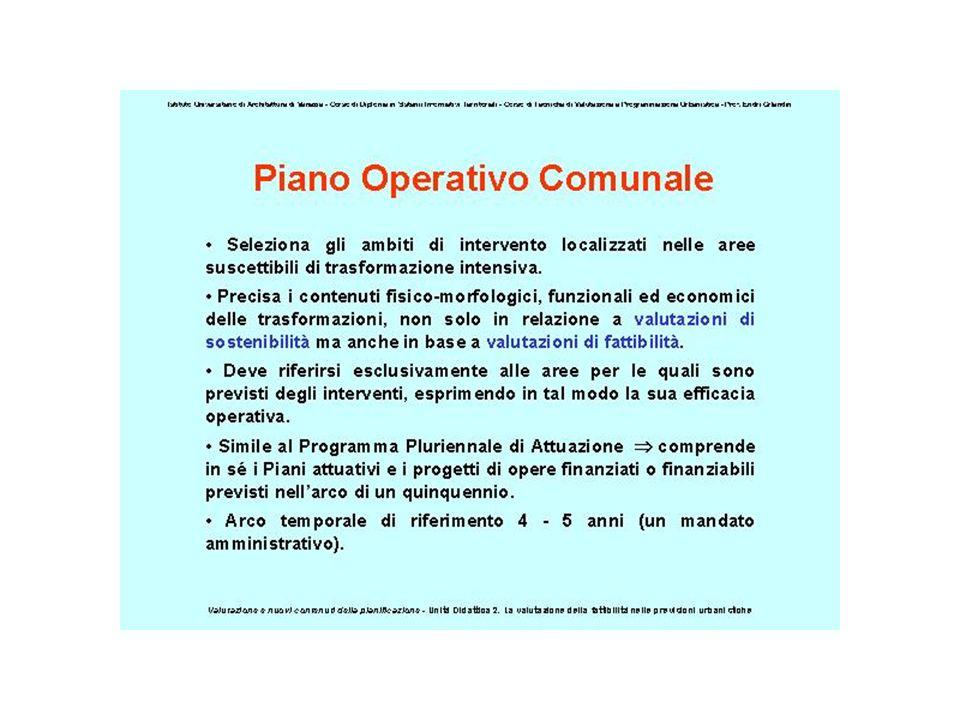 PIANO OPERATIVO La sua formazione ed approvazione è affidata per intero al Comune, sulla base del principio di autonomia.