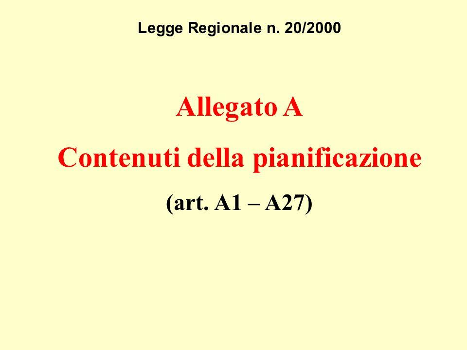 Legge Regionale n. 20/2000 Allegato A Contenuti della pianificazione (art. A1 – A27)