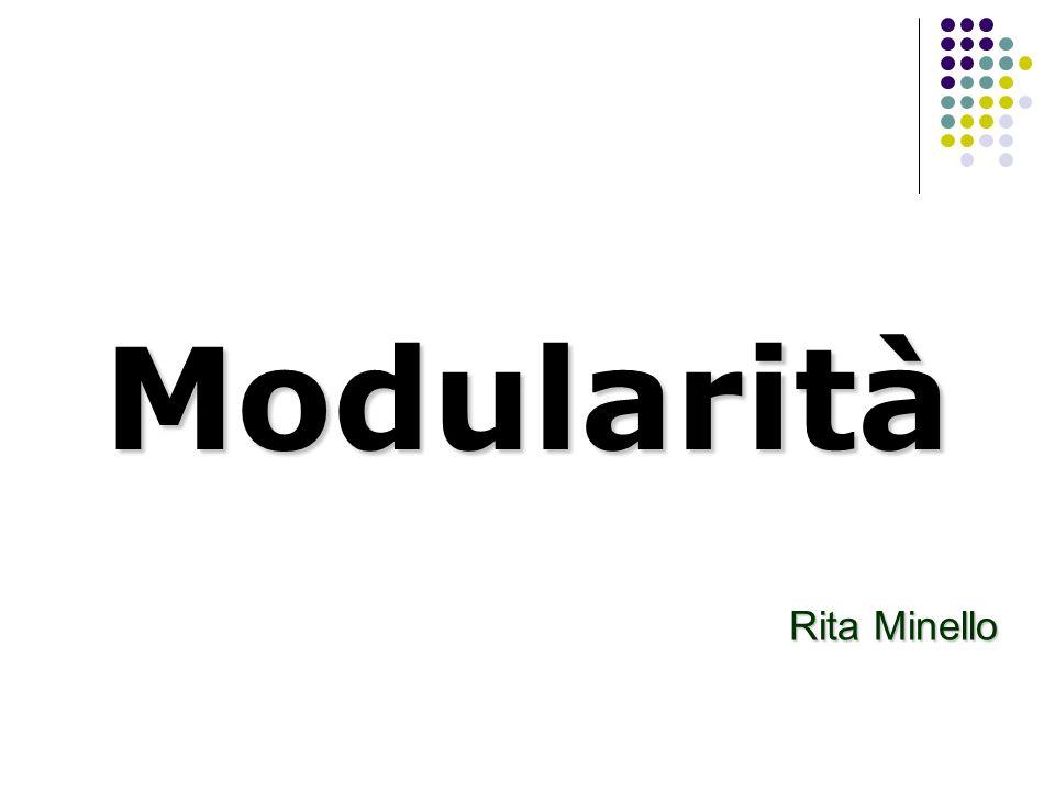 Modularità Rita Minello