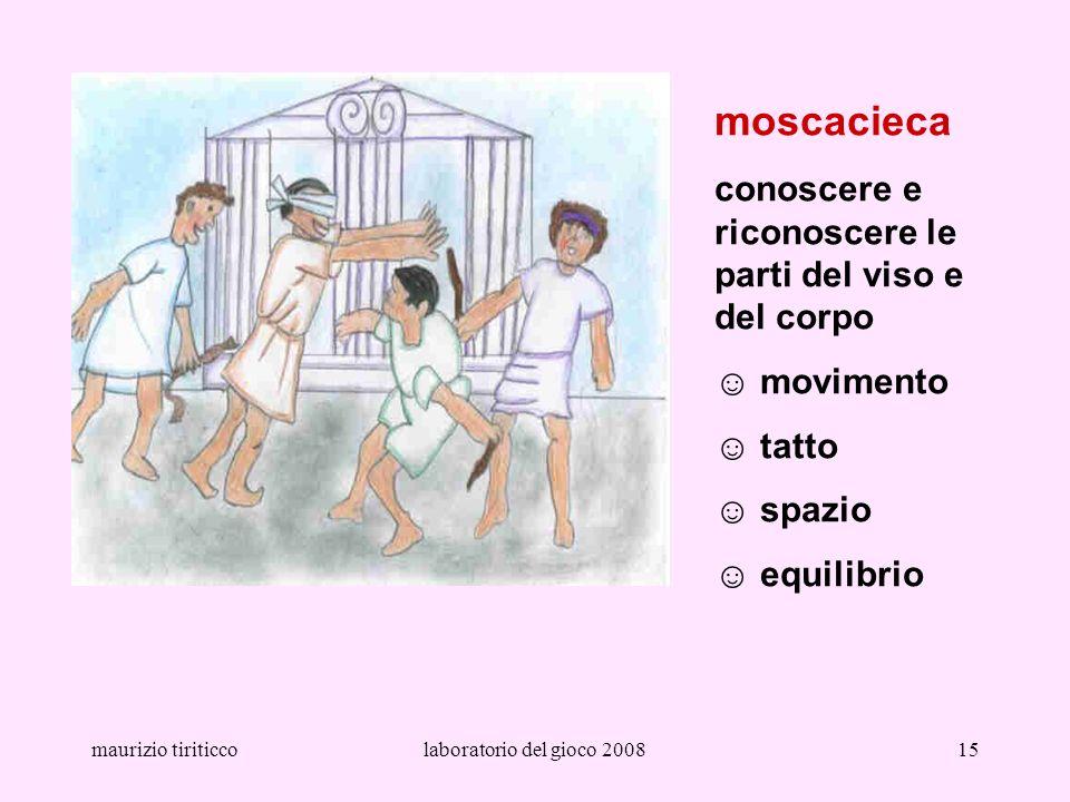maurizio tiriticcolaboratorio del gioco 200815 moscacieca conoscere e riconoscere le parti del viso e del corpo movimento tatto spazio equilibrio