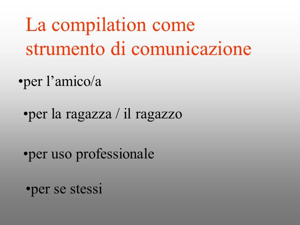 La compilation come strumento di comunicazione per lamico/a per la ragazza / il ragazzo per uso professionale per se stessi