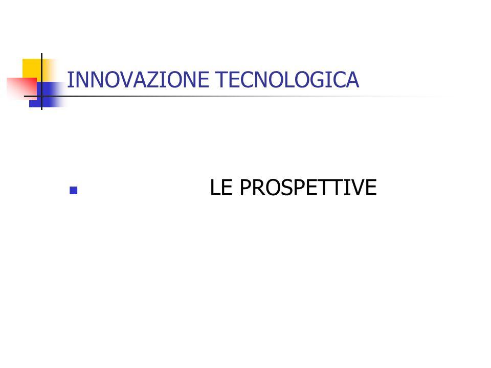 INNOVAZIONE TECNOLOGICA LE PROSPETTIVE