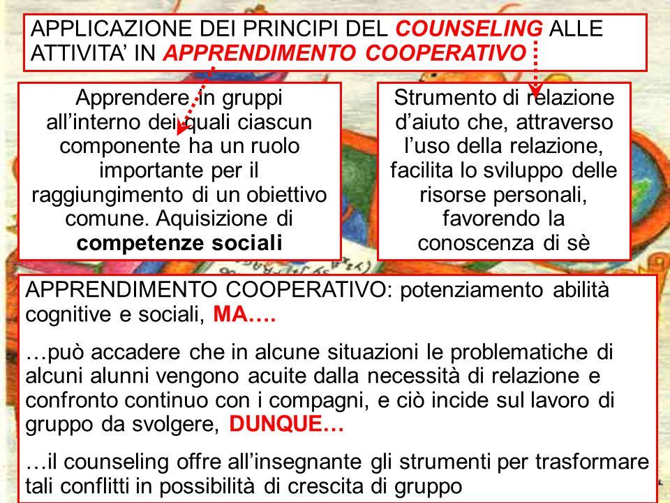 25 Apprendere in gruppi allinterno dei quali ciascun componente ha un ruolo importante per il raggiungimento di un obiettivo comune. Aquisizione di co
