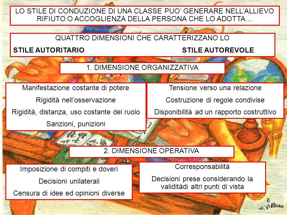 7 STILE AUTORITARIO STILE AUTOREVOLE 3.