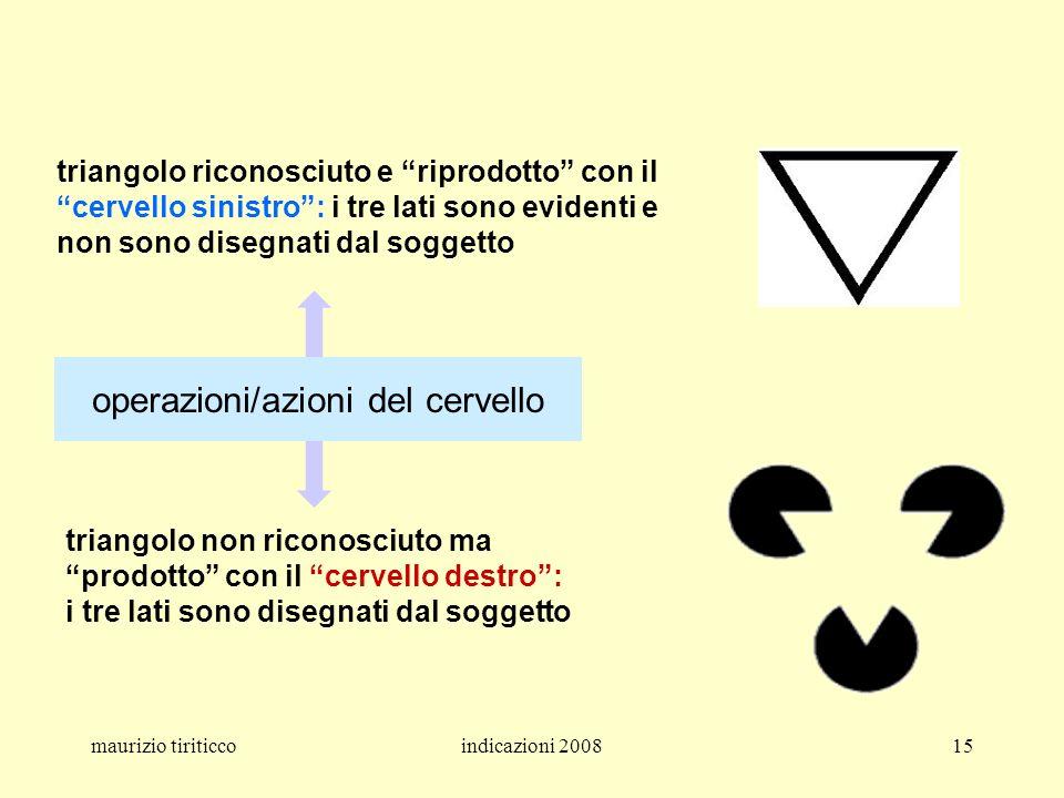 maurizio tiriticcoindicazioni 200815 triangolo riconosciuto e riprodotto con il cervello sinistro: i tre lati sono evidenti e non sono disegnati dal s