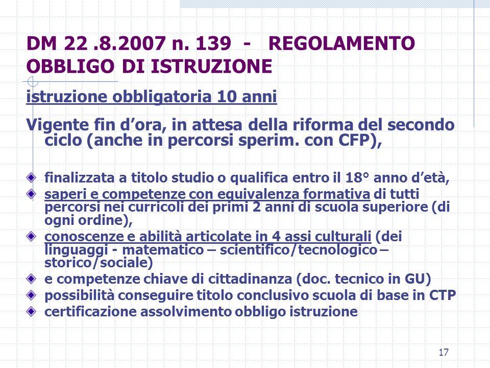 17 DM 22.8.2007 n.
