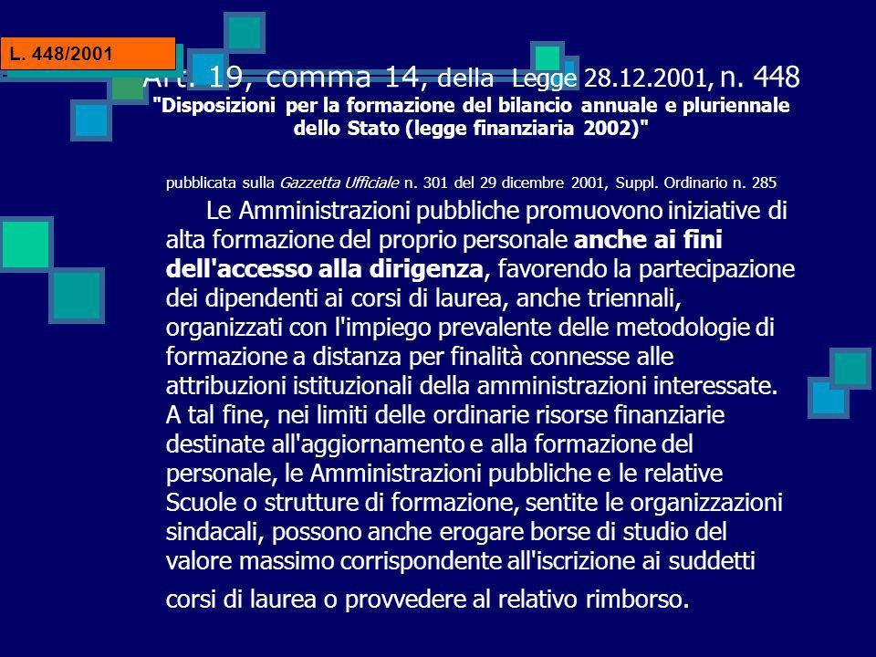 Art. 19, comma 14, della Legge 28.12.2001, n.