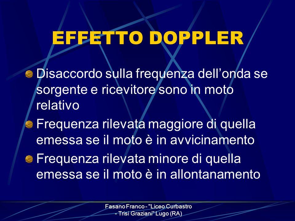 Fasano Franco - Liceo Curbastro - Trisi Graziani Lugo (RA) Doppler in astronomia Misurazione della velocità di rotazione di oggetti celesti