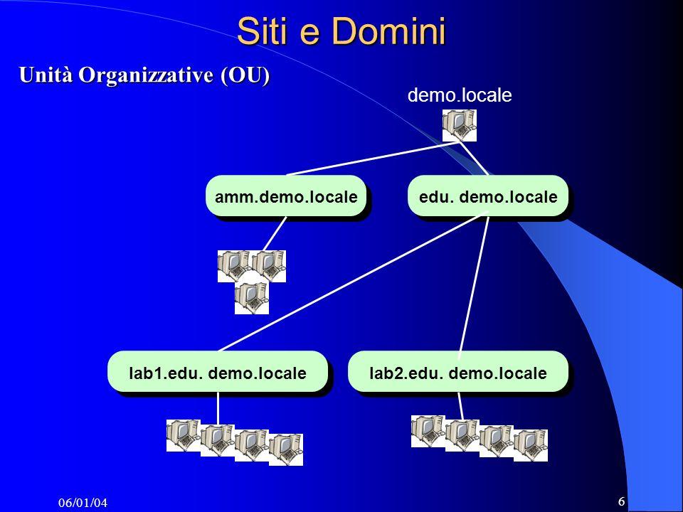 06/01/04 6 Siti e Domini demo.locale edu. demo.localeamm.demo.localelab1.edu.