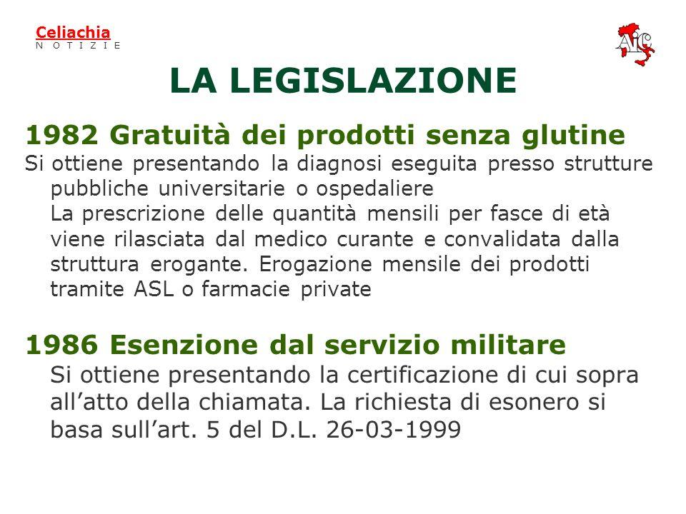 LAssociazione Italiana Celiachia §Da più di venti anni opera su tutto il territorio nazionale §Fornisce ai propri iscritti (15.000) materiale di suppo