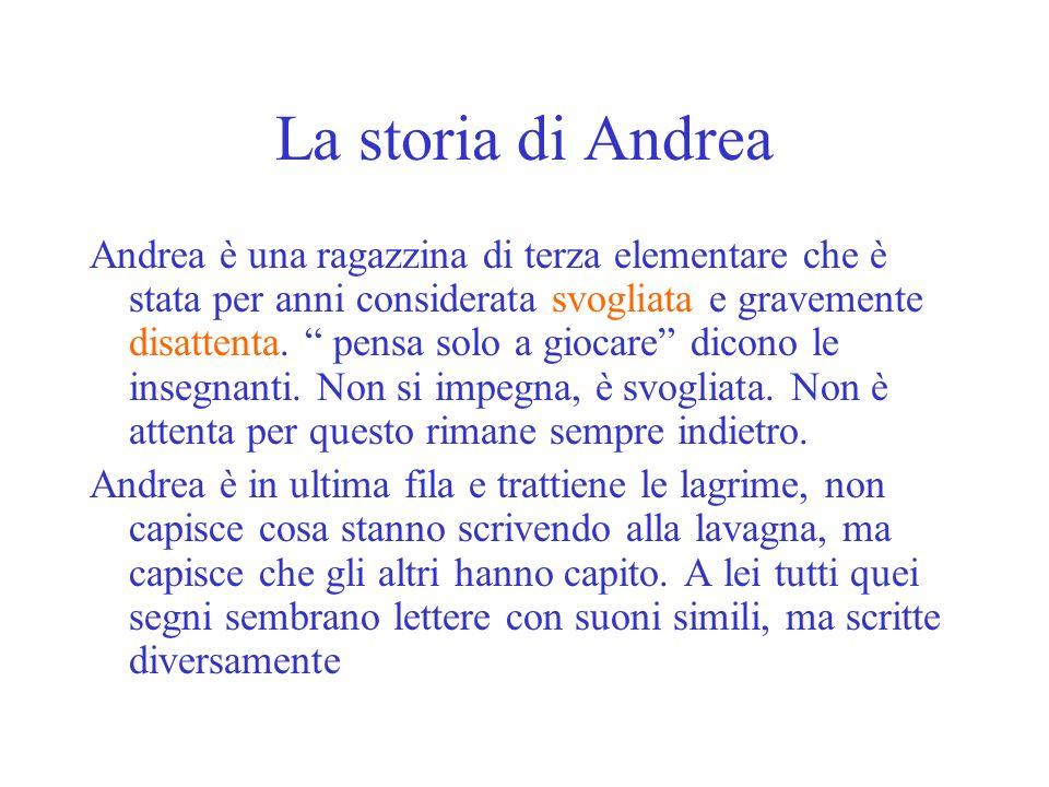 La storia di Andrea Andrea è una ragazzina di terza elementare che è stata per anni considerata svogliata e gravemente disattenta. pensa solo a giocar