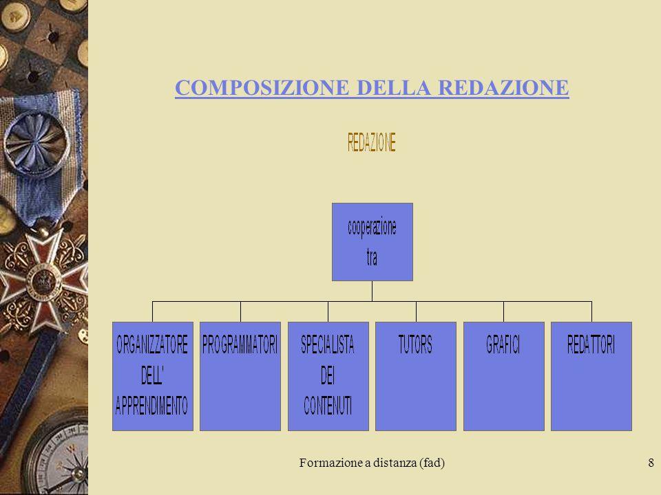 Formazione a distanza (fad)8 COMPOSIZIONE DELLA REDAZIONE