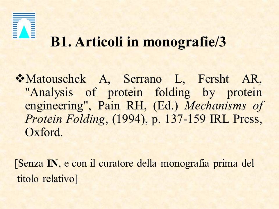 B1. Articoli in monografie/3 Matouschek A, Serrano L, Fersht AR,