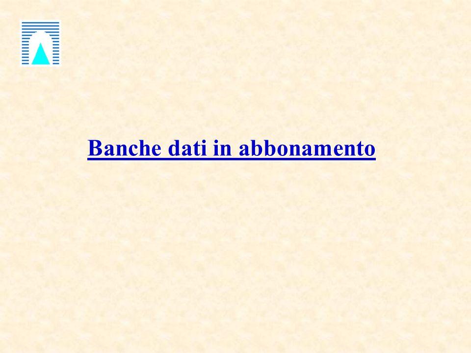 Banche dati in abbonamento Banche dati in abbonamento