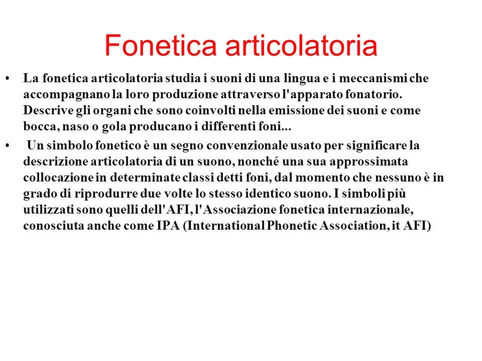 Livelli di analisi: Elementi di fonetica e fonologia Consonanti (< lat.