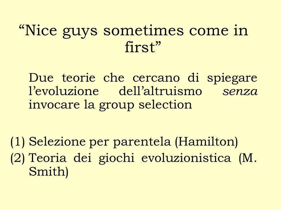 Si noti che il sostenitore della selezione di gruppo deve presupporre che i due gruppi si ricombinino prima di riformare nuovi gruppi.