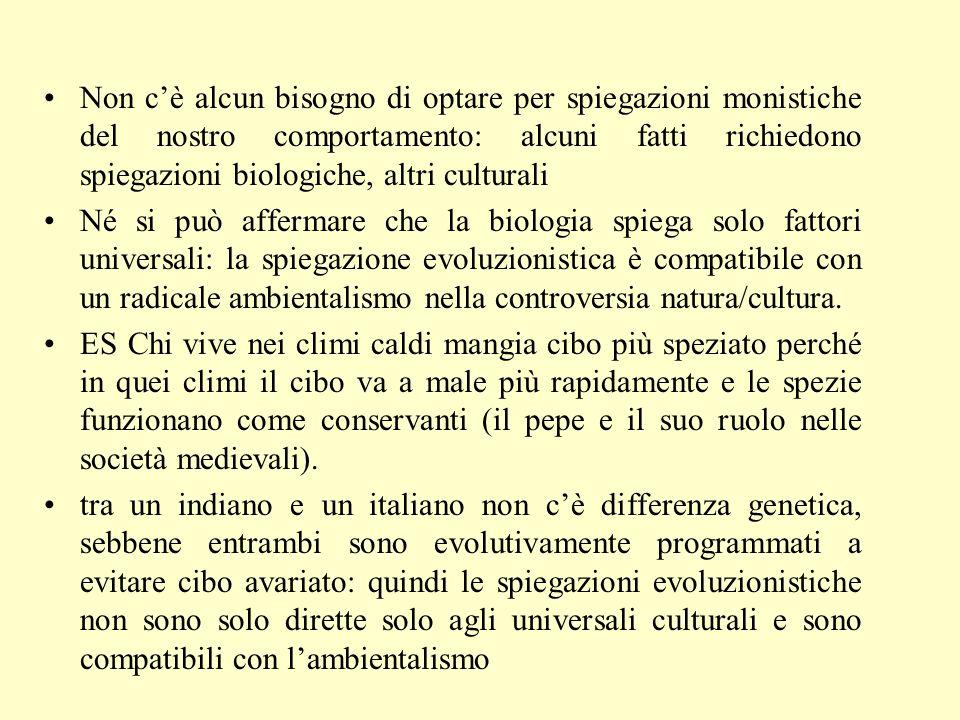 Due tipi di pluralismo motivazionale Primo tipo: alcune azioni sono causate solo da motivi altruistici, mentre altre solo da motivi altruistici.