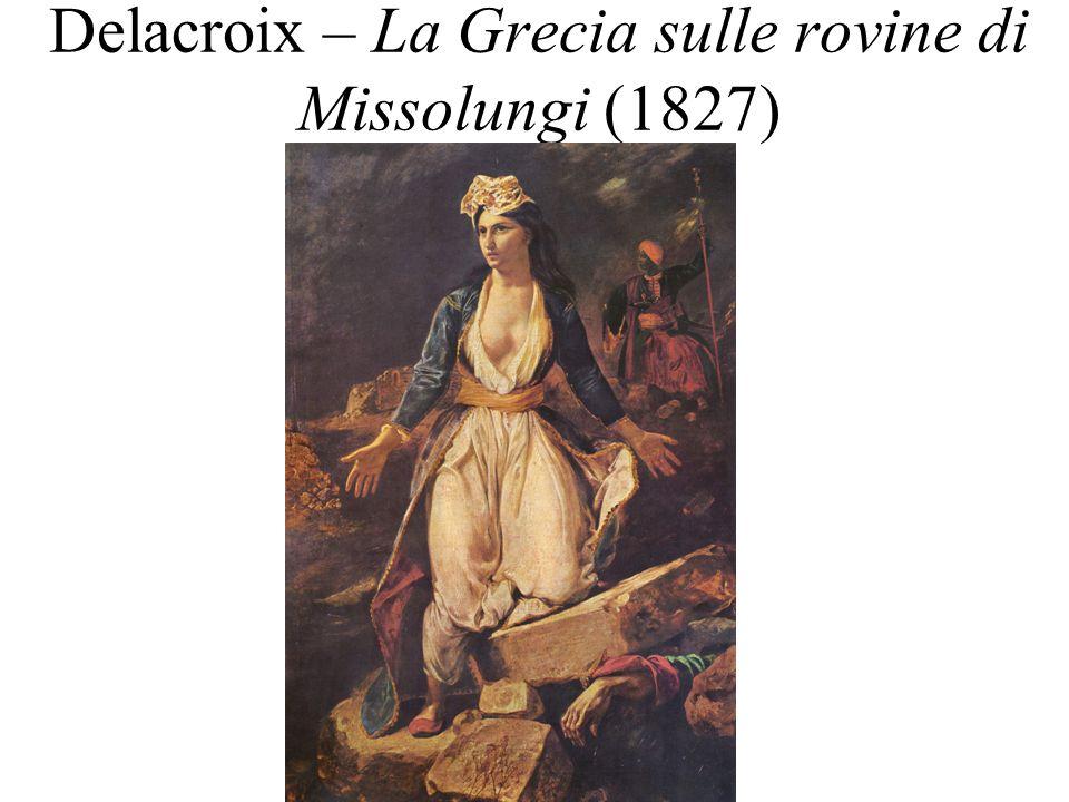 Delacroix – La Grecia sulle rovine di Missolungi (1827)