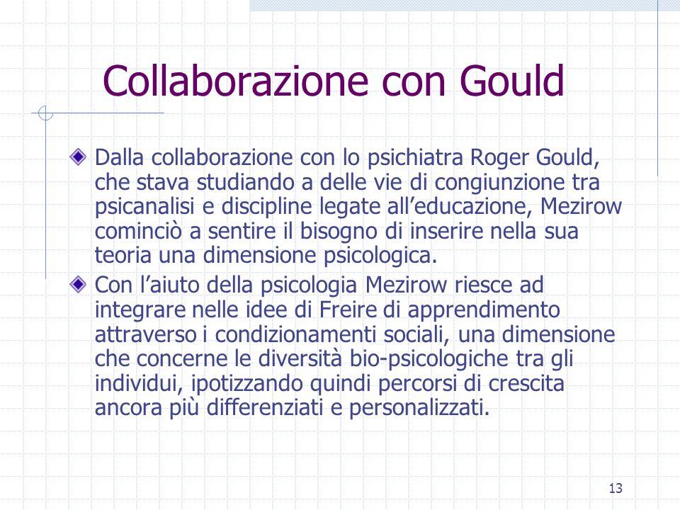 13 Collaborazione con Gould Dalla collaborazione con lo psichiatra Roger Gould, che stava studiando a delle vie di congiunzione tra psicanalisi e disc
