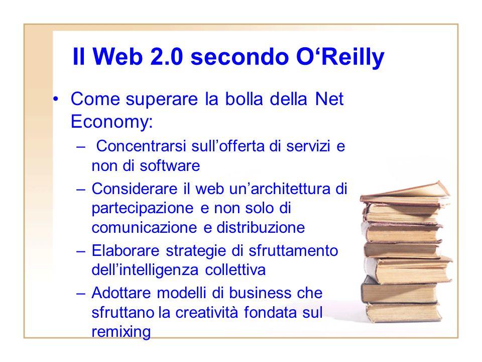 Alcune parole chiave del Web 2.0Web 2.0 –Social softwareSocial software –Social network –Folksonomy –Coda lunga –Citizen Journalism –Wiki –Blogosfera –…–…