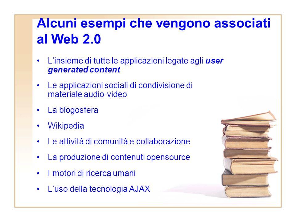 Il Web 2.0 secondo OReilly Come superare la bolla della Net Economy: – Concentrarsi sullofferta di servizi e non di software –Considerare il web unarc